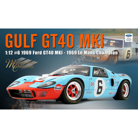 "FORD GT40 MKI 6 ""GULF"" JACKY ICKX LE MANS 1969 1ER"