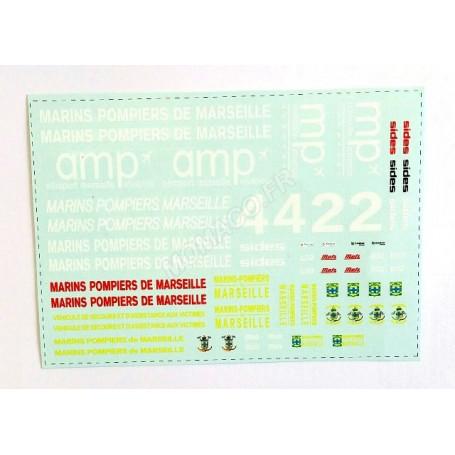 """PLANCHES DE DECALQUES POMPIER """"BMPM"""""""