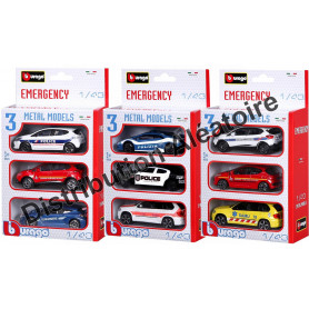SET DE 3 VEHICULES D'INTERVENTION (MODELE ALEATOIRE)