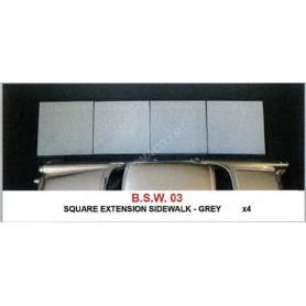 SET : EXTENSION CARRÉE X 4 GRIS
