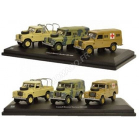 SET DE 3 LAND ROVER SERIES III 109 MILITAIRE