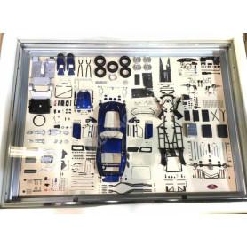 MODEL ART PARTS DISPLAY : FERRARI GTO BLEUE