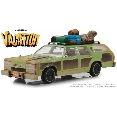 "WAGON QUEEN FAMILY TRUCKSTER 1979 ""NATIONAL LAMPOON'S VACATION (1983)"" AVEC BAGAGES ET TANTE EDNA"