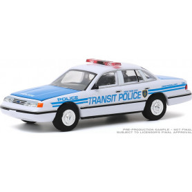 """FORD CROWN VICTORIA """"NEW YORK CITY TRANSIT POLICE CEREMONIAL"""" POLICE INTERCEPTOR 1994 (EPUISE)"""