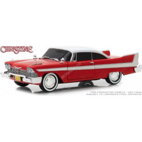 "PLYMOUTH FURY 1958 ""CHRISTINE (1983)"" - VERSION MALEFIQUE AVEC FENETRES NOIRCIES"