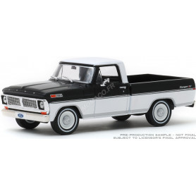 FORD F-100 1970 NOIRE/BLANCHE (EPUISE)