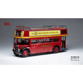 AEC REGENT RT OUVERT TRANSPORT DE LONDRES 1950 ROUGE