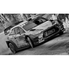 HYUNDAI I20 COUPE WRC 5 OU 6  MIKKELSEN/JÄGGER/NEUVILLE/GILSOUL RALLYE PAYS DE GALLE 2017 (DECALS)