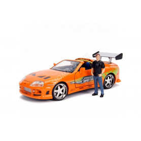 "TOYOTA SUPRA 1995 ""FAST AND FURIOUS"" AVEC FIGURINE BRIAN (METAL KIT)"