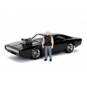 "DODGE CHARGER (STREET) 1970 ""FAST AND FURIOUS"" AVEC FIGURINE DOM (METAL KIT)"