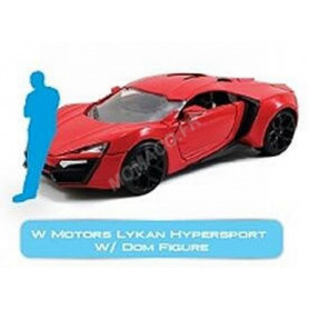 "LYKAN HYPERSPORT W MOTORS ""FAST AND FURIOUS"" AVEC FIGURINE DOM"