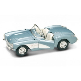 CHEVROLET CORVETTE 1957 BLEUE METAL