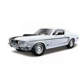 FORD MUSTANG GT COBRA JET 1968 BLANCHE