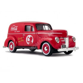 "FORD DELIVERY VAN ""COCA-COLA"" 1940 ROUGE (EPUISE)"