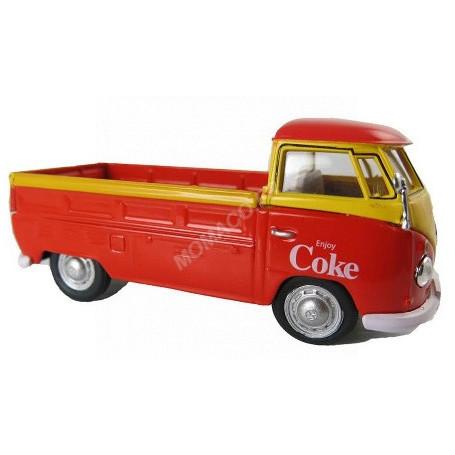 """VOLKSWAGEN T1 PICK-UP """"COCA-COLA"""" 1962 ROUGE/JAUNE"""