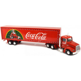 "TRACTEUR INTERNATIONNAL AVEC SEMI REMORQUE SPECIAL FETE  ""COCA-COLA"" (2EME VERSION AVEC LED)"
