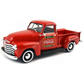 "CHEVROLET PICK-UP ""COCA-COLA"" 1953 ROUGE AVEC CAISSE"