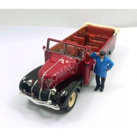 ROCHET-SCHNEIDER 23000 1937 OUVERT ROUGE/NOIRE AVEC FIGURINE