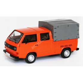 VW T3 PLATEAU DOUBLE CABINE ORANGE (EPUISE)