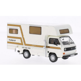 "VW T3 PLATEAU SIMPLE CABINE ""TISCHER"" MARRON/BLANC"