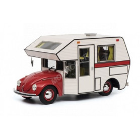 VOLKSWAGEN COCCINELLE CAMPING CAR ROUGE