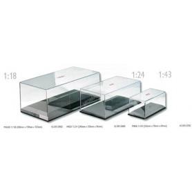 BOITE VITRINE TRANSPARENTE 1/43 TAILLE: Longueur 15.2cm x Largeur 7.8cm x Hauteur 6.9cm (1 boite)