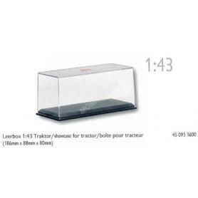 BOITE VITRINE TRACTEUR 1/43 TAILLE: Longueur 18.6cm x Largeur 8.8cm x Hauteur 8cm (1 boite)