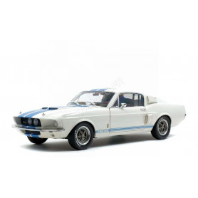 FORD MUSTANG SHELBY GT500 1967 BLANCHE BANDES BLEUES
