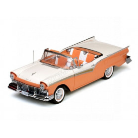 FORD FAIRLAINE 500 SKYLINER 1957 SABLE/BLANC