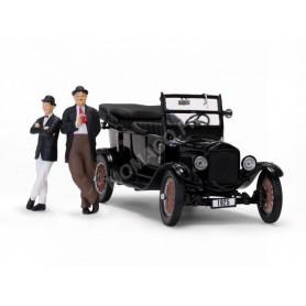 "FORD MODEL T 1925 AVEC FIGURINES ""LAUREL ET HARDY"""