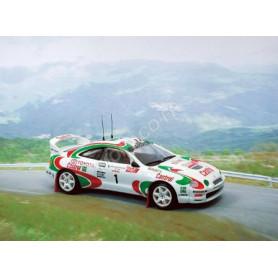 """TOYOTA CELICA GT4 """"CASTROL"""" 1 AURIOL/GIRAUDET TOUR DE CORSE 1995 1ER"""