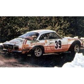 RENAULT ALPINE A110 39 BALLOT-LENA/MORENAS RALLYE MONTE CARLO 1973