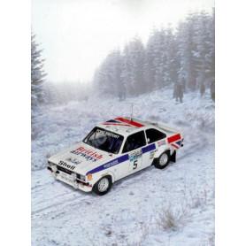 FORD ESCORT MKII 5 WALDEGAARD/THORSZELIUS RALLYE RAC 1977 1ER