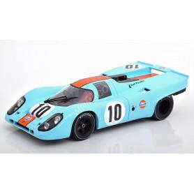 """PORSCHE 917K """"GULF"""" 10 RODRIGUEZ/KINNUNEN 100KM BRAND HATCH 1970 1ER"""