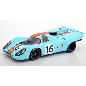 "PORSCHE 917K ""GULF"" 16 RODRIGUEZ/ATTWOOD 100KM ZELTWEG 1971 1ER"