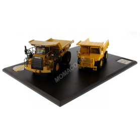 CATERPILLAR DUMPER SERIES EVOLUTION 769 ET 770 AVEC FIGURINE