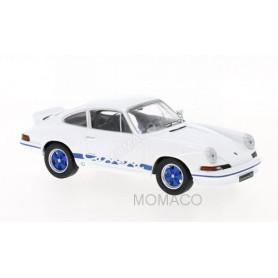 PORSCHE 911 CARRERA RS 2.7 1973 BLANCHE AVEC DECALQUES BLEUS