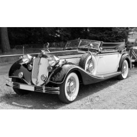 HORCH 855 ROADSTER 1939 ROUGE FONCE/BEIGE CLAIR
