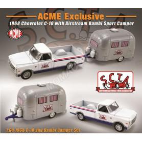 """CHEVROLET C-10 1968 AVEC CARAVANNE """"S.C.T.A."""""""