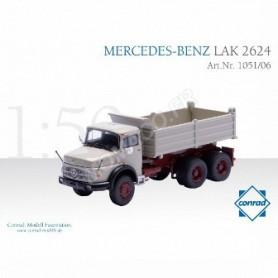 MERCEDES-BENZ 2624 CAMION BENNE A CAPOT 3 ESSIEUX JAUNE