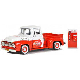 "FORD F-100 PICK UP ""COCA-COLA"" 1955 AVEC MACHINE POUR CANETTE"