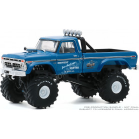 """FORD F-250 MONSTER TRUCK """"MIDWEST FOUR WHEEL DRIVE & PERF. CENTER"""" 1974 (PNEUS 48 POUCES) (EPUISE)"""