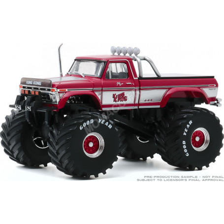 """FORD F-250 MONSTER TRUCK """"KING KONG"""" 1975 (PNEUS 66 POUCES) (EPUISE)"""