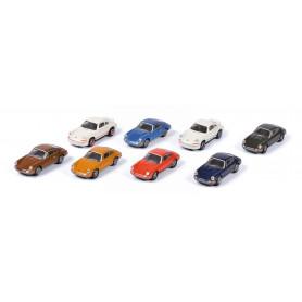 SET DE 8 PIECES PORSCHE 911 : (6 X 911 S / 2 X CARRERA 2.7 RS)