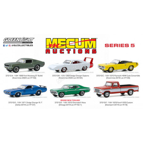 COFFRET 6 MECUM AUCTIONS COLLECTOR CARS - SERIES 5