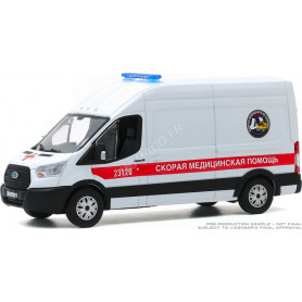 "FORD TRANSIT LWB TOIT SURELEVE AMBULANCE ""FAST MEDICAL AID"" SAINT PETERSBURG RUSSIE"