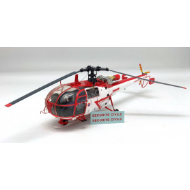 "SUD-AVIATION ALOUETTE 3 HELICOPTERE ""SECURITE CIVILE"" BLANC/ROUGE (EPUISE)"