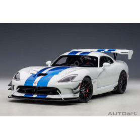 "DODGE VIPER ""GTS-R COMMEMORATIVE EDITION"" ACR 2017 BLANCHE BANDES BLEUE"