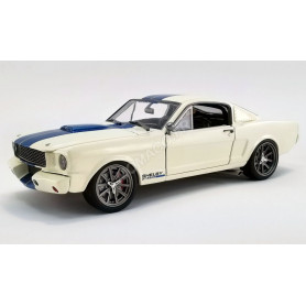 FORD MUSTANG SHELBY GT350R STREET FIGHTER 1965 BLANC/BLEUE