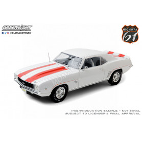 """CHEVROLET CAMARO Z10 """"PACE CAR COUPE"""" 1969 BLANCHE AVEC BANDES ORANGES ET INTERIEUR NOIR"""
